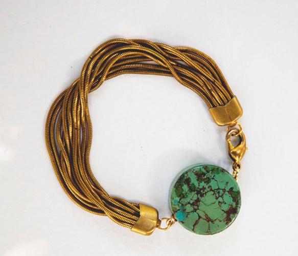 Turquoise Medallion Bracelet