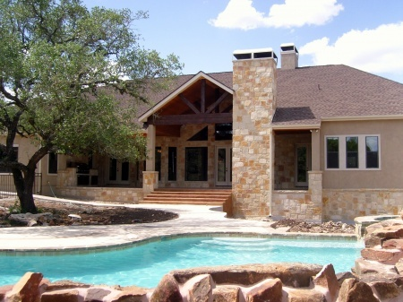 Texas Hill Country Style Backyard Home Ideals Pinterest