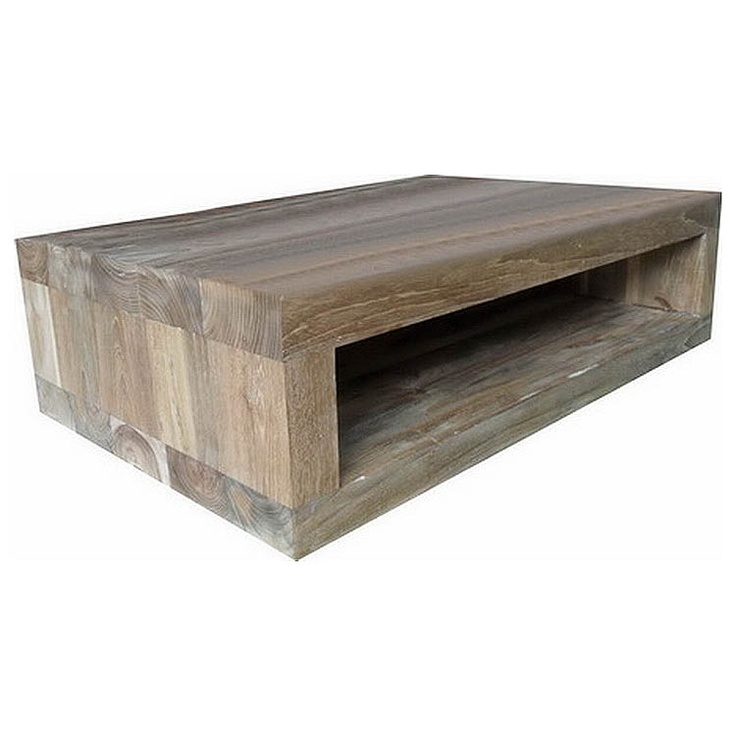 Reclaimed Teak Low Tv Stand Square