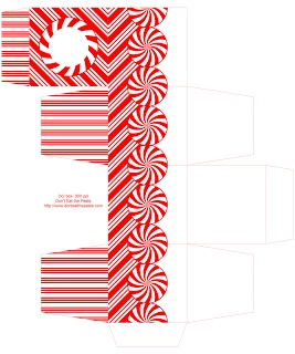 Printable peppermint gift box | Christmas Printables | Pinterest