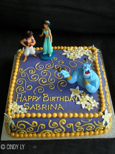 Princess Jasmine Birthday Cake by Cindy's Epic Cakes, via Flickr