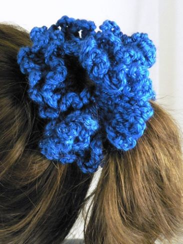 CROCHETED HAIR SCRUNCHIES Crochet For Beginners
