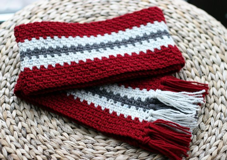 Free Crochet Pattern Striped Scarf : Vertical Stripe Crochet Scarf (Unisex) Crochet Scarves ...