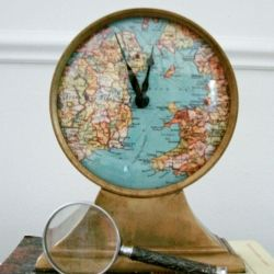 Give your clock a facelift by adding something personal to the face, like a map of where you honeymooned, by following this easy tutorial.