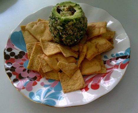 Luixrare Avocado Crab Dip Served with Pita Chips http://luxirare.com ...