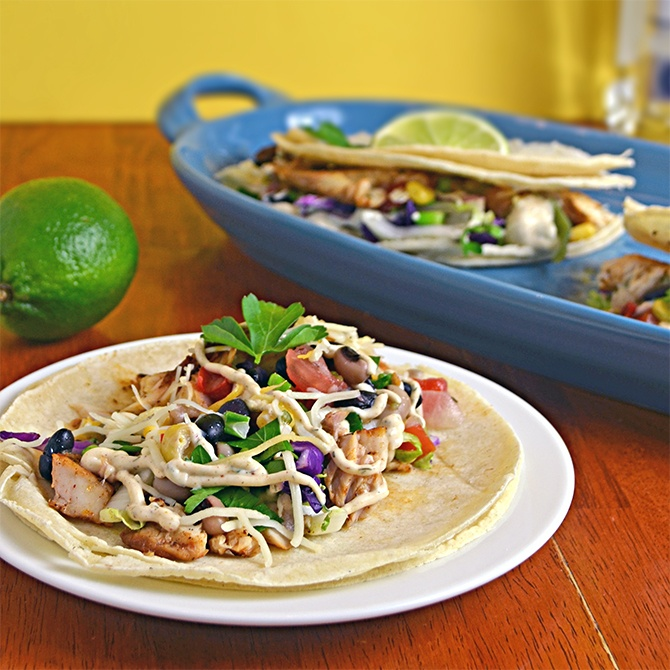 Margarita Fish Tacos with Chipotle Lime Sauce | Host The Toast Blog