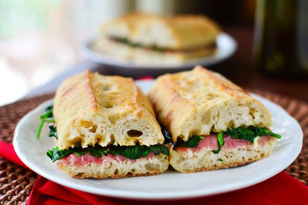 Prosciutto Manchego Sandwiches with Spinach and Fig Preserves | Food ...