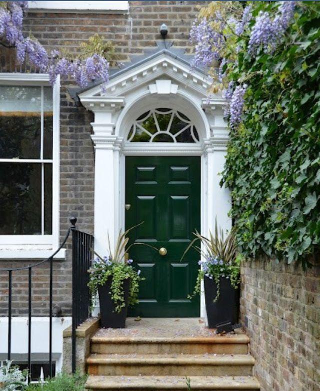 Hunter Green Front Door Homes Exteriors Pinterest