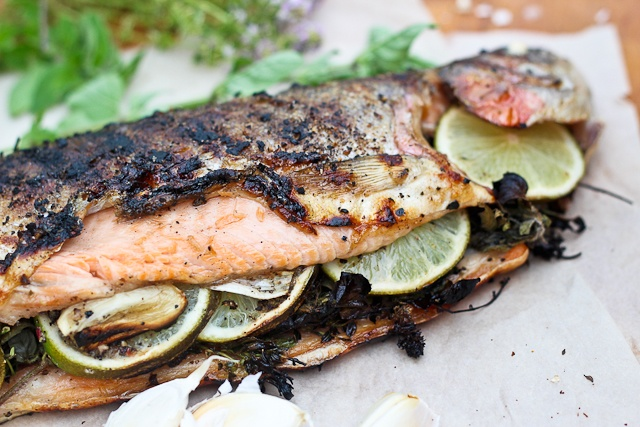 Grilled Whole Trout, TheHealthyFoodie (whole trout, salt + pepper ...