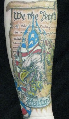Patriotic Tattoo Sleeves Patriotic sleeve tattoo