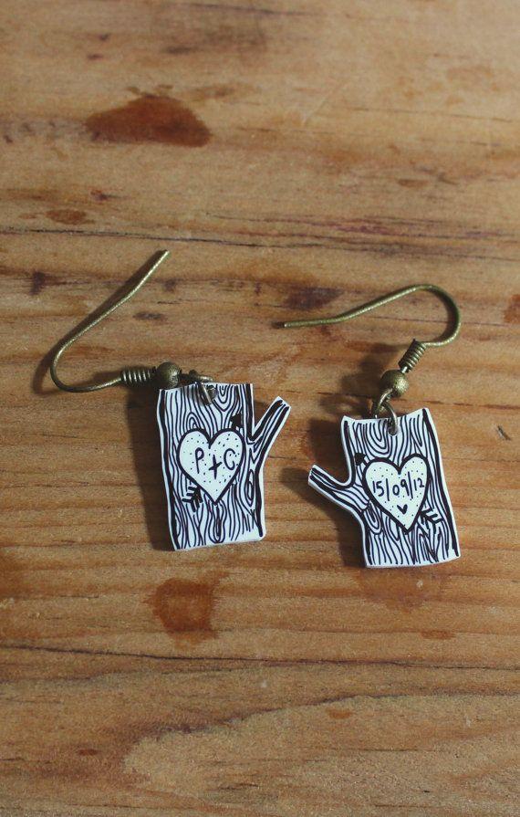 Anniversary / wedding gift card 'Illustrated Tree' earrings FREE ...
