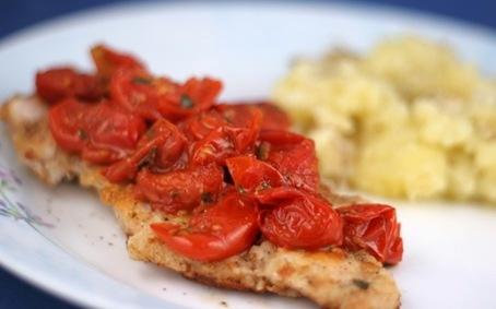 Chicken with tomato herb pan sauce   Yum - chicken   Pinterest