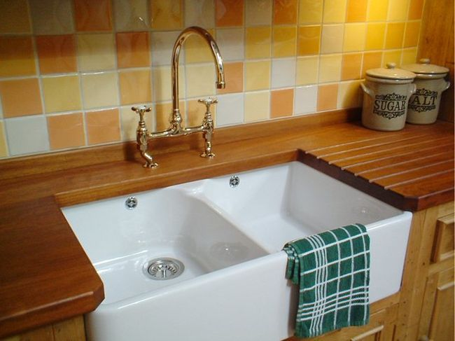 Pin by petra on for home kitchen pinterest - Kitchen sink draining board ...