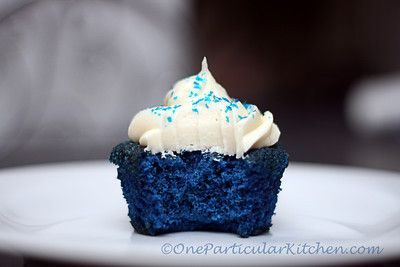 Blue velvet cupcakes. Perfect for Royals fans or that little boy who insists on having blue cake for his birthday!