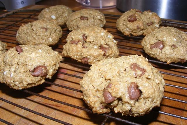 "Flourless Chocolate Chip Cookies Finally an easy one! The ""dough"" i..."