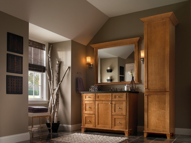 Kraftmaid cabinets maple in praline ideas for the house Kraftmaid bathroom cabinets