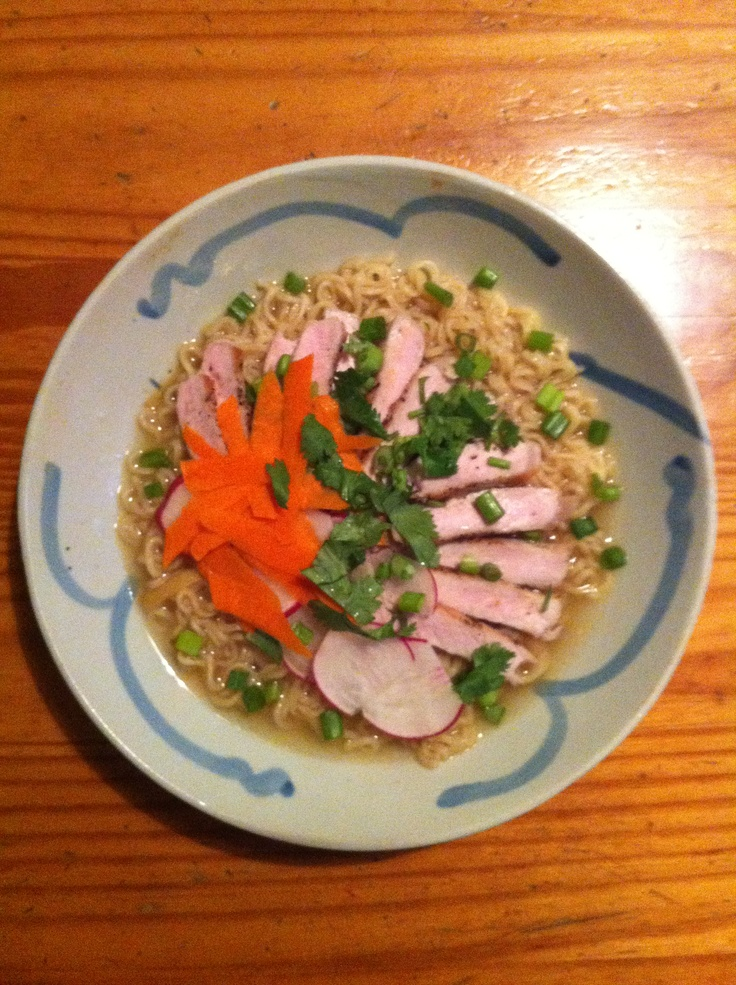 Pork Ramen Soup - #monthofdinners The pork is delicious! Perfect for a ...