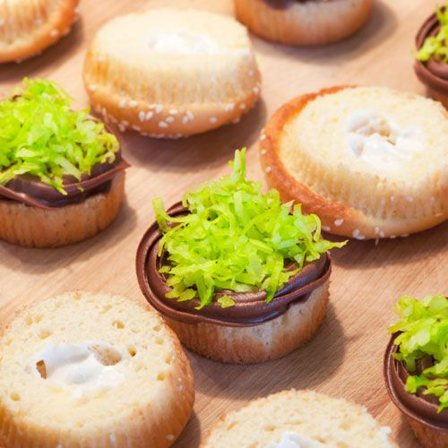 """Juicy Lucy"""" Burger Cupcakes recipe - from Tablespoon!"""