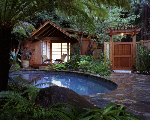 cozy, secluded pool