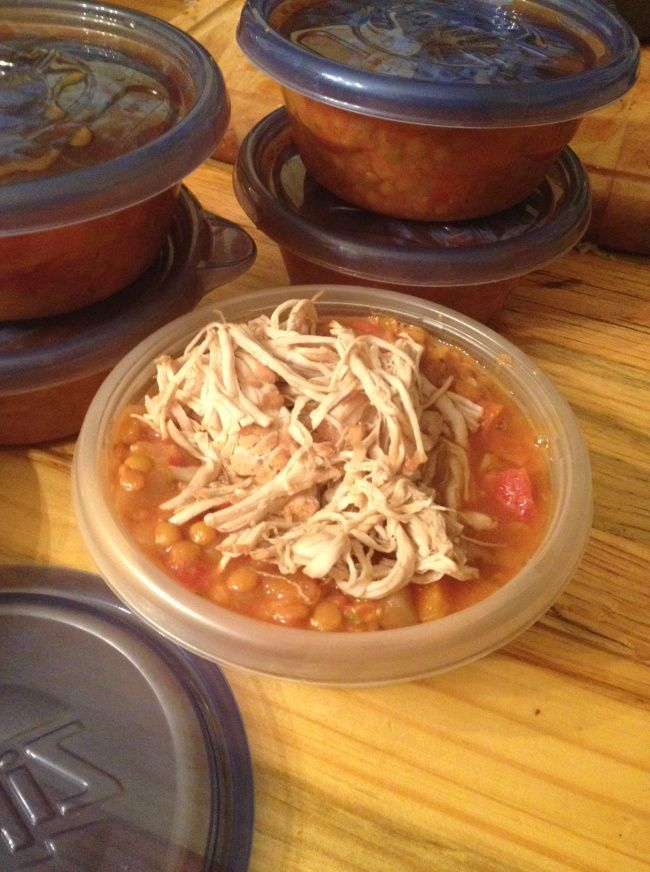 lunchbox life: stewed lentils and tomatoes with slow-cooked turkey