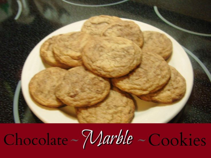 Chocolate Marble Cookies | cookies | Pinterest
