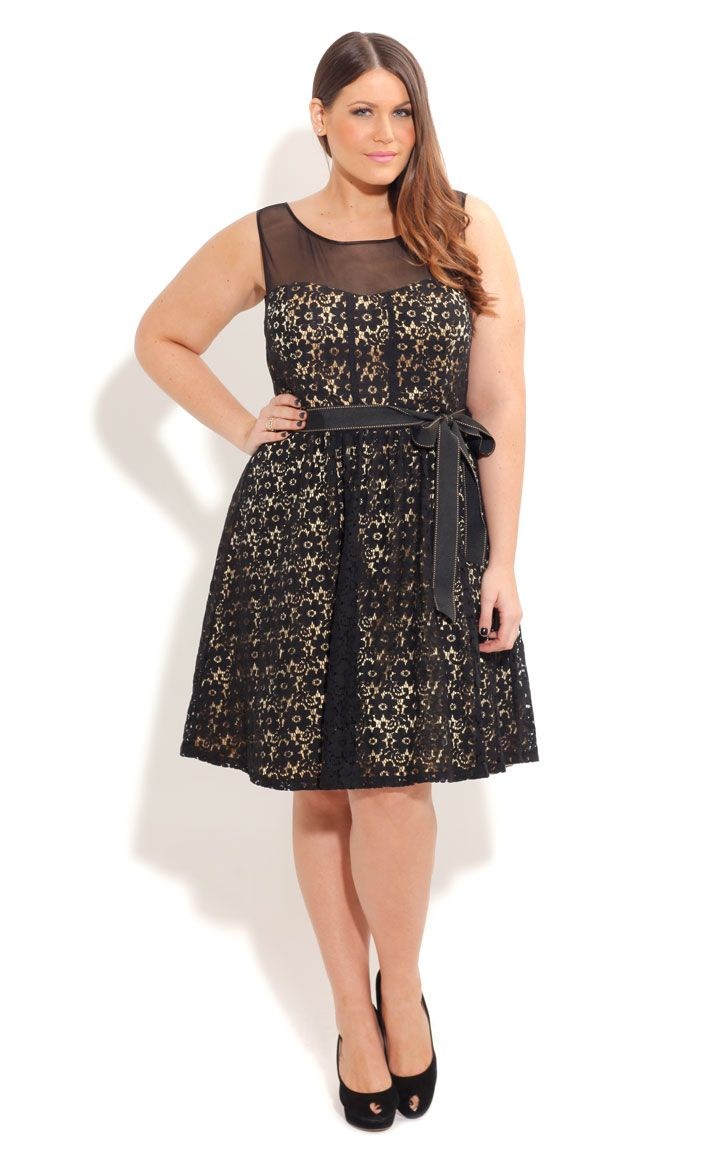 Lace Laura Dress | Plus Size The Little Black Dress | OneStopPlus