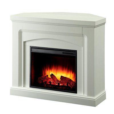 White Corner Electric Fireplace