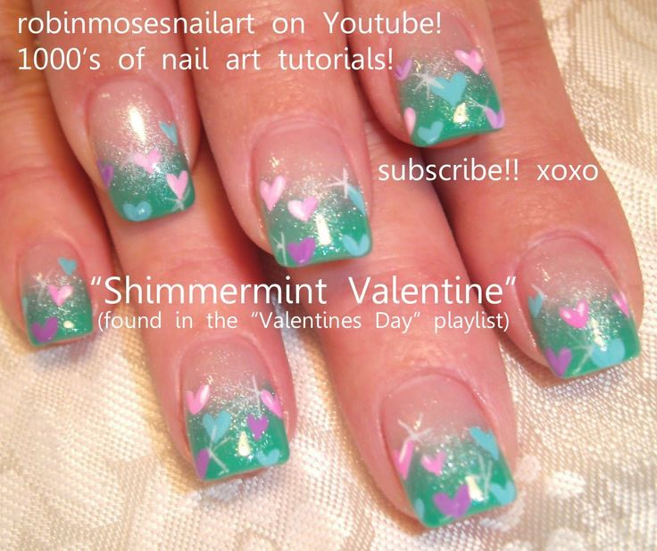 valentine's nails youtube