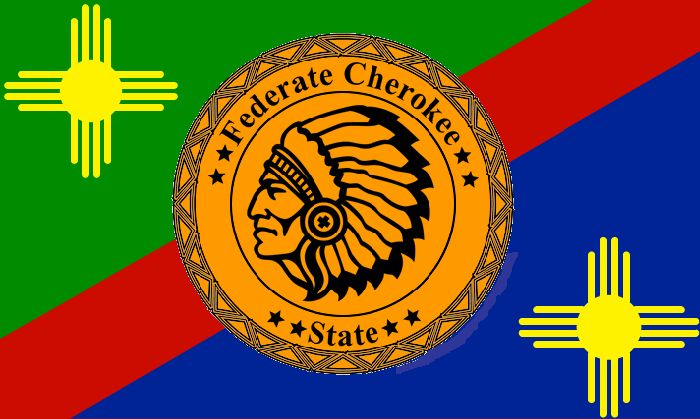federate cherokee flag cherokee nation my native