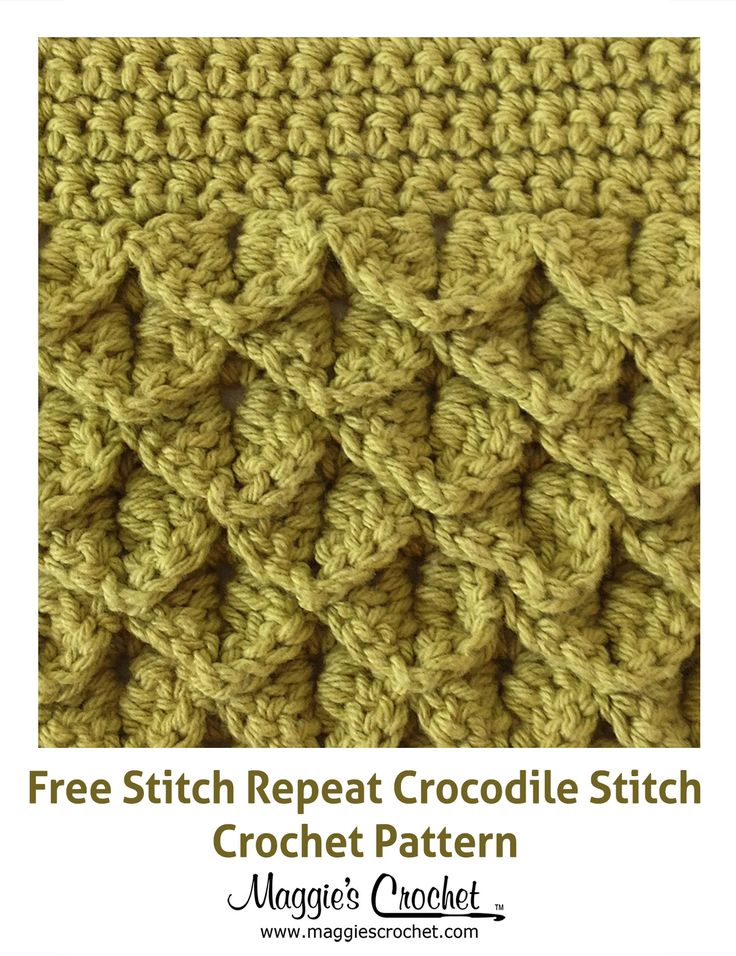 Crocodile Stitch - Free Crochet Pattern Crochet Stitches and helpfu ...