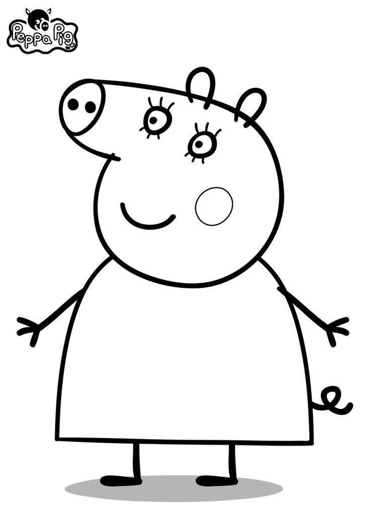 Dibujo de Peppa Pig para imprimir y colorear (8 de 19) | mildibujos.com