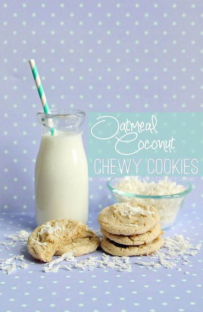 Oatmeal Coconut Chewy Cookies | I think I have an addiction... | Pint ...