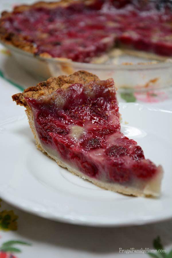 Dairy Free Raspberry Cream Pie | Recipe