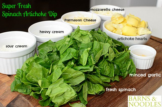 Fresh Spinach Artichoke Dip Recipe | Food & Recipes | Pinterest
