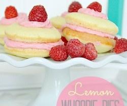 lemon whoopie pies raspberry filling | Yummies | Pinterest