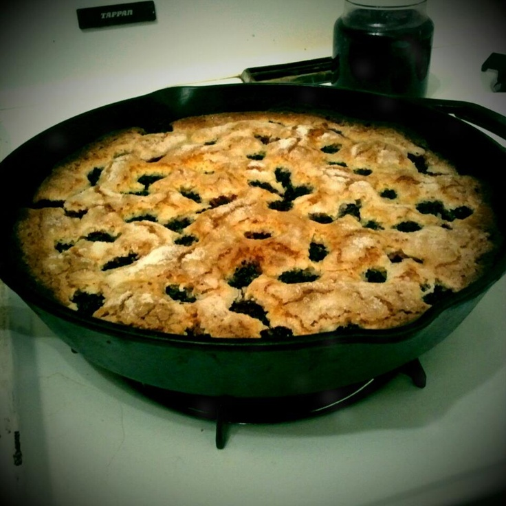 Blackberry Cornmeal Cake :) the picture is from me, the recipe is from ...