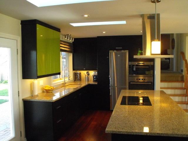 Ikea Nexus Black Brown  modern  kitchen  toronto  Still Waters