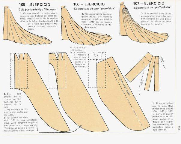 Как сшить длинное платье со шлейфом