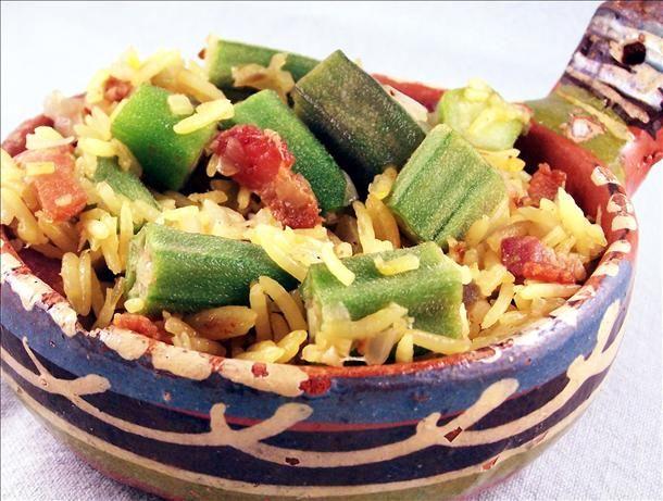 Okra Pilau | Recipes - Side Dishes | Pinterest