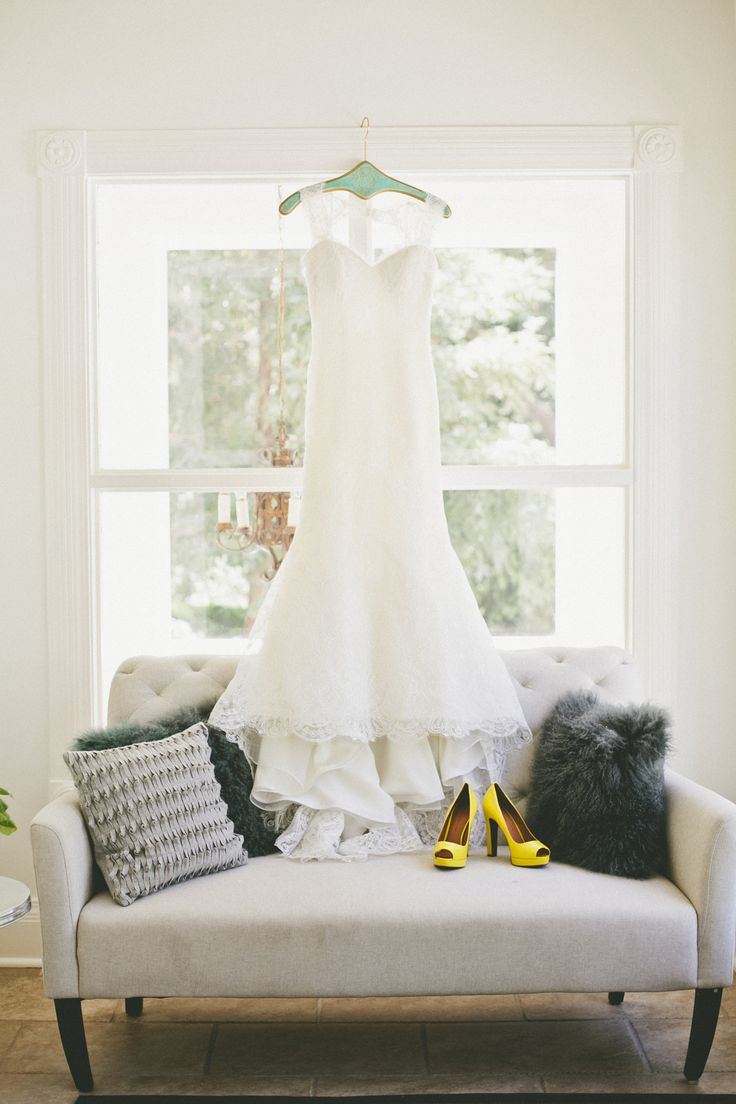 Pops of Yellow -- See the wedding here: http://www.StyleMePretty.com/california-weddings/2014/04/07/rustic-wedding-with-pops-of-yellow-at-park-winters/ onelove photography - onelove-photo.com