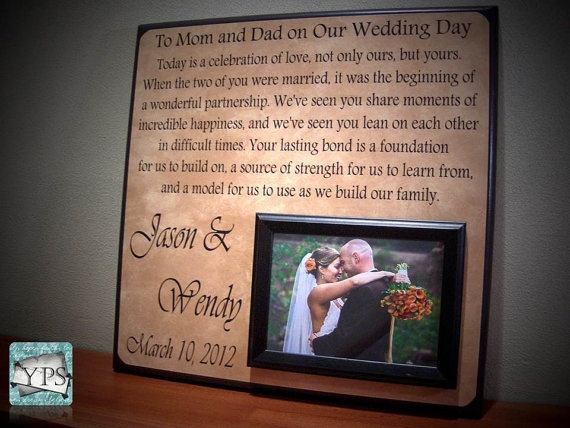 Wedding Gift For Parents, Parents Gift, Thank You Gift, Mom and Dad ...