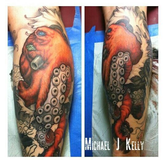 Blue ringed octopus tattoo james bond - photo#26