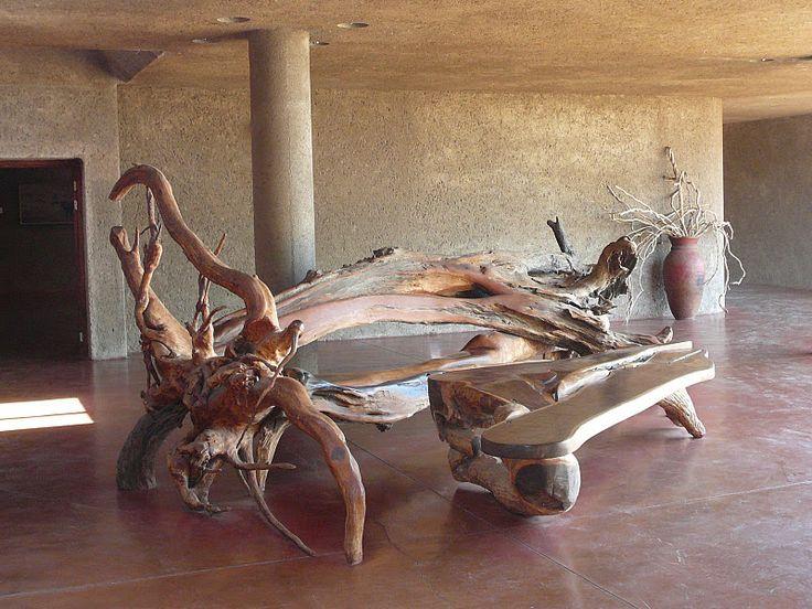Driftwood furniture  Driftwood Art  Pinterest