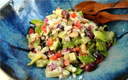 Chopped Greek Salad (great as a main dish or side salad for barbecues ...