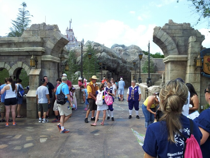 Entrance to the 'Be Our Guest Restaurant' at the new Fantasyland area of the Magic Kingdom