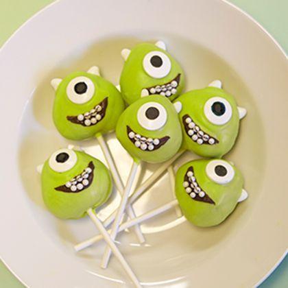 Mike Wazowski Cake Pops