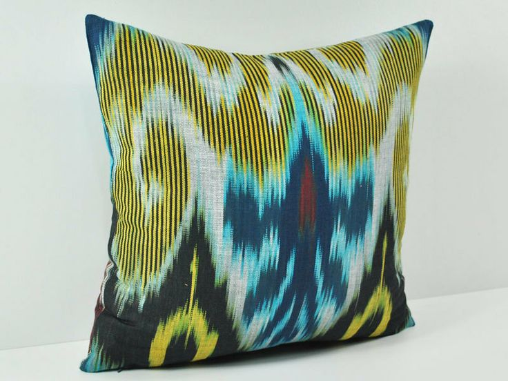 16x16 Decorative Pillow Covers : IKAT PILLOW cover- 16x16 decorative throw Pillow 100% cotton spe102