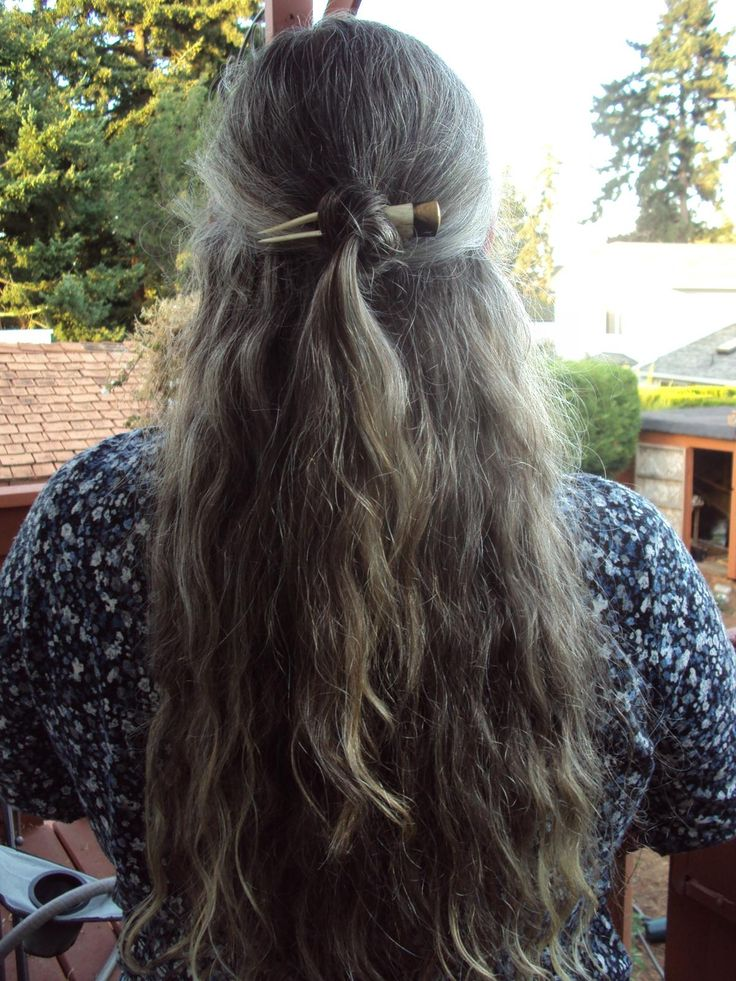 long hairstyles for kids : Long gray hair. Grey Hair Pinterest