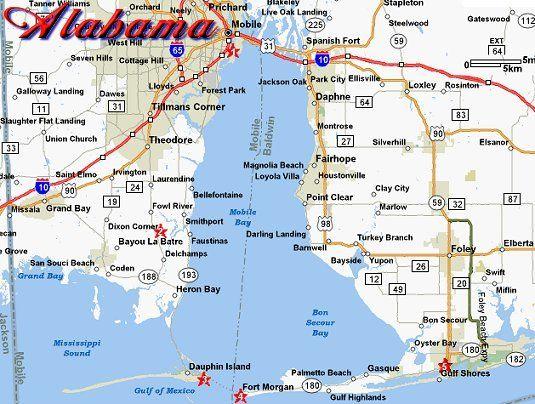 Map Of Alabama Coast Submited Images