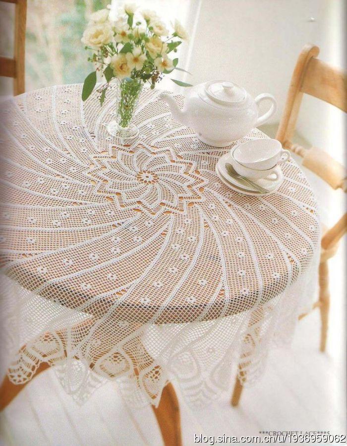 Mantel de ganchillo crochet centro de mesa tapetes - Centros de mesa de ganchillo ...
